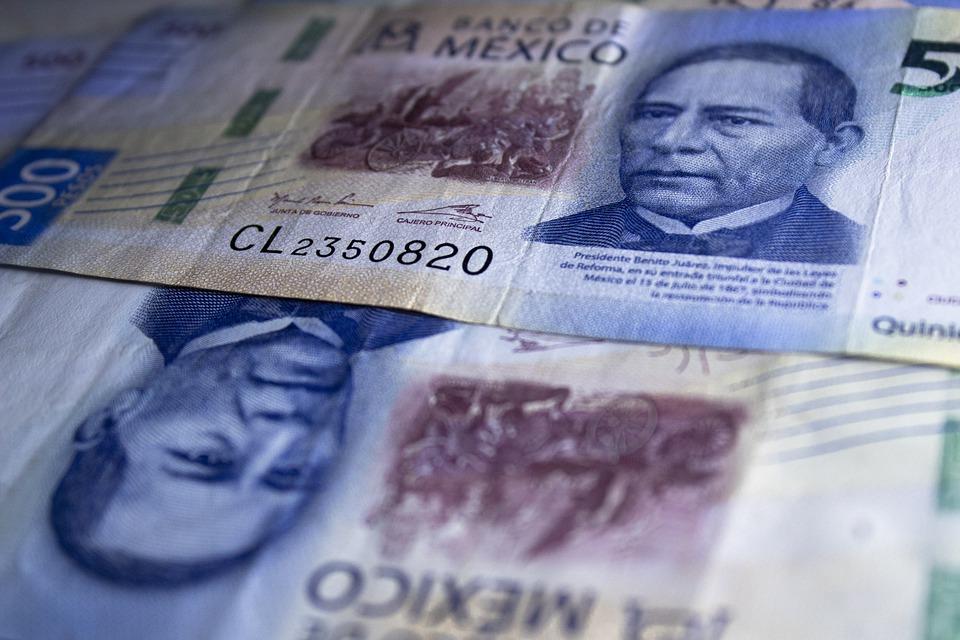 mexické peníze