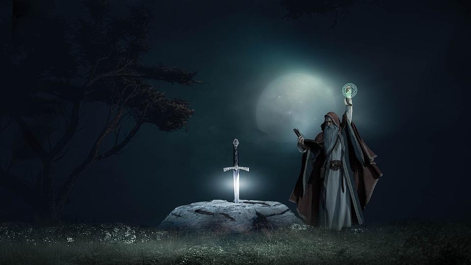 obřad s mečem